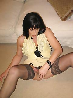 Crossdresser Nylon Porn Pics